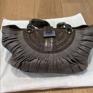 DIOR calfskin gray jewel hobo handbag. RARE!